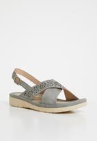 Butterfly Feet - Shifa strappy sandals - grey