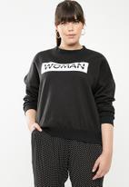 STYLE REPUBLIC PLUS - Woman sweater - black & white