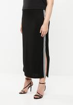 STYLE REPUBLIC PLUS - Maxi skirt with slits - black