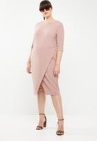 STYLE REPUBLIC PLUS - Smart wrap dress - pink