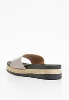 Sarah J - Flatform sandals - dark grey