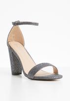 Sissy Boy - Ankle strap heels - silver