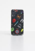 Hey Casey - Superhero icons phone case - mutli