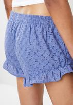 Cotton On - Textured bed time shorts - blue
