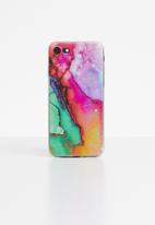 Hey Casey - Pink ink marble phone case - multi