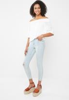 Cotton On - Mid rise grazer skinny jean - blue