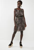 ONLY - Sabelle lia lace sleeveless dress - tarmac