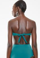 Lithe - Bandeu bikini top with tie back - green