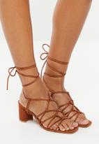 Superbalist - Eve strap block heel - tan