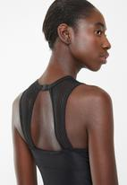 PIHA - Mesh detail high neck one piece - black