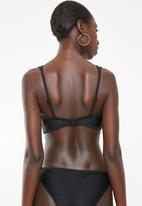 PIHA - Twin strap bikini top - black