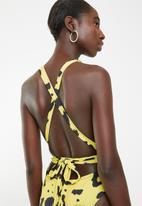 MSH - Miami vice monokini - black & yellow