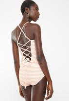 MSH - Apricot dreams one piece swimsuit - white & orange