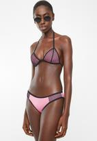 Sun Love - Sporty eyelet bikini set - pink