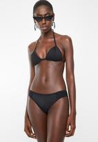 Sun Love - Sporty eyelet bikini set - black
