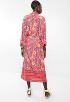 MSH - Tropical days kimono red - multi
