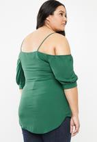 STYLE REPUBLIC PLUS - Cold shoulder blouse - green