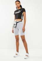 PUMA - Tape logo cropped tee - black