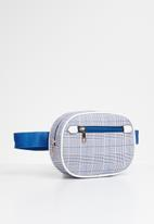 Superbalist - Check waist bag - blue & white