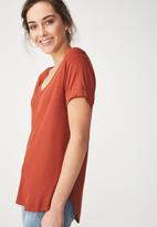 Cotton On - Karly short sleeve top - red