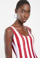 Lithe - Striped one piece - red