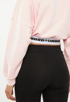 Umbro - Umbro long sleeve crop batwing top - pink