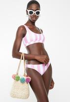 Lithe - Stripe two piece bikini set - pink