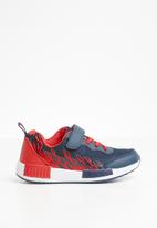POP CANDY - Printed velcro strap sneaker - blue & red