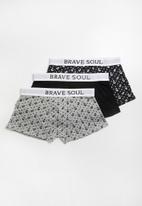 Brave Soul - 3 Pack hipster boxers - grey & black