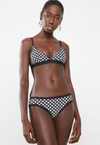 PIHA - Geometric bikini bottom - black & white