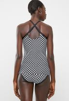 PIHA - Geometric tankini - black & white