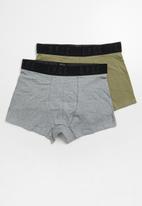 S.P.C.C. - 2 pack boxer briefs - grey