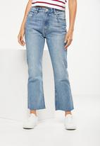Cotton On - High rise kick flare crop stretch jeans - light blue