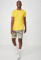 Cotton On - Essential longline curved hem tee - yellow