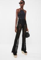 Missguided - Eyelash lace beach trouser - black