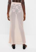Missguided - Mesh maxi skirt - neutral