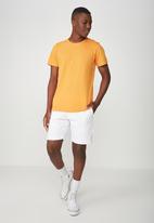 Cotton On - Essential v-neck short sleeve tee -  orange