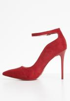Plum - Ankle strap heels - red