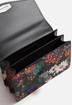 MANGO - Floral Print Bag-Black