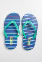 Cotton On - Printed flip flop - blue