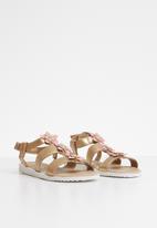 POP CANDY - Flower detail sandal - gold