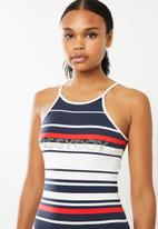 Sissy Boy - Halter neck logo dress - multi