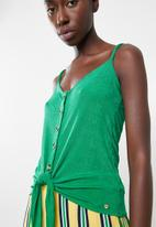 Sissy Boy - Volume up cami with tie - green