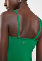 Sissy Boy - Midi with bust knot - green