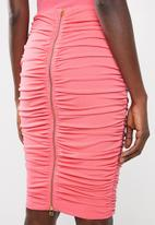 Sissy Boy - Ruched midi skirt - pink