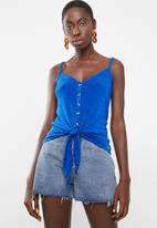 Sissy Boy - Volume up cami with tie - blue
