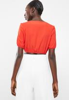 Sissy Boy - Bomb tastic crop tie bust top - orange