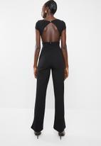 Sissy Boy - Boity open back jumpsuit - black