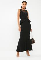 Sissy Boy - Punk and divas peplum maxi dress - black