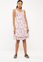 Revenge - Cherry blossom layered dress - pink